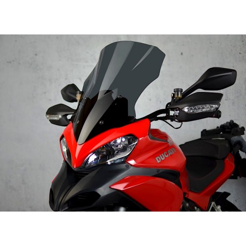 motorcycle windscreen touring screen high dark windshield ducati multistrada 1200 2013-2014