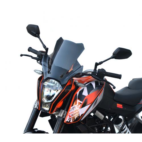 touring screen high windshield windscreen ktm 200 duke 2011-2016